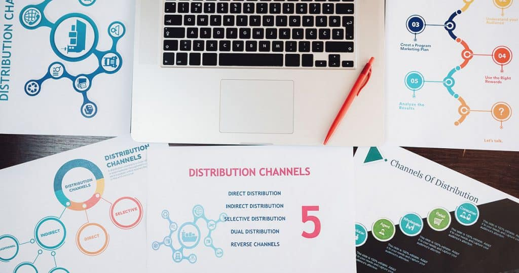 KCX Media uses 3 types of marketing strategies and many distribution channels