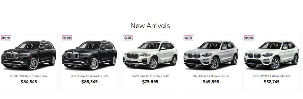 This is an image from The Woodlands BMW, and it illustrates how BMW advertises price, but without any rebate or savings information